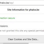 De browser toont dat de connectie beveiligd is
