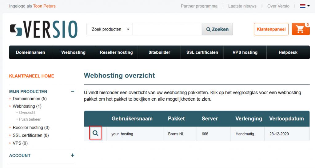 Webhosting overzicht
