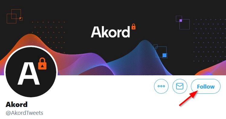 Screenshot of Akord twitter account