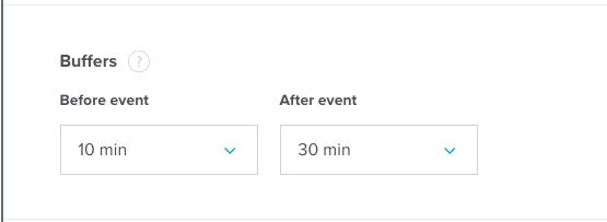 Set a 10min buffer before and 30min buffer after the meeting.